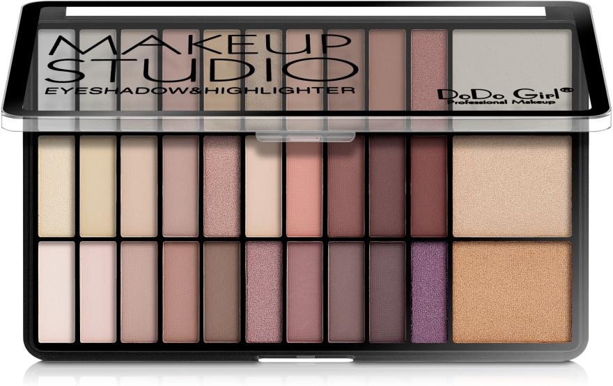 Набор теней и хайлайтеров - DoDo Girl Make Up Studio Eyeshadow & Highlighter