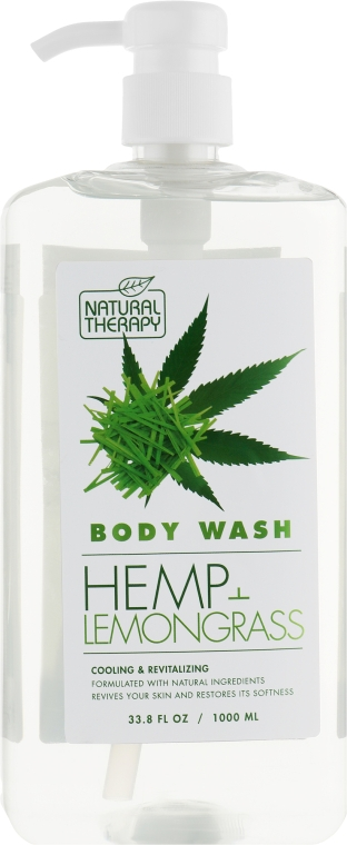 Гель для душа с экстрактом конопли и лемонграсса - Natural Therapy Hemp + Lemongrass Body Wash