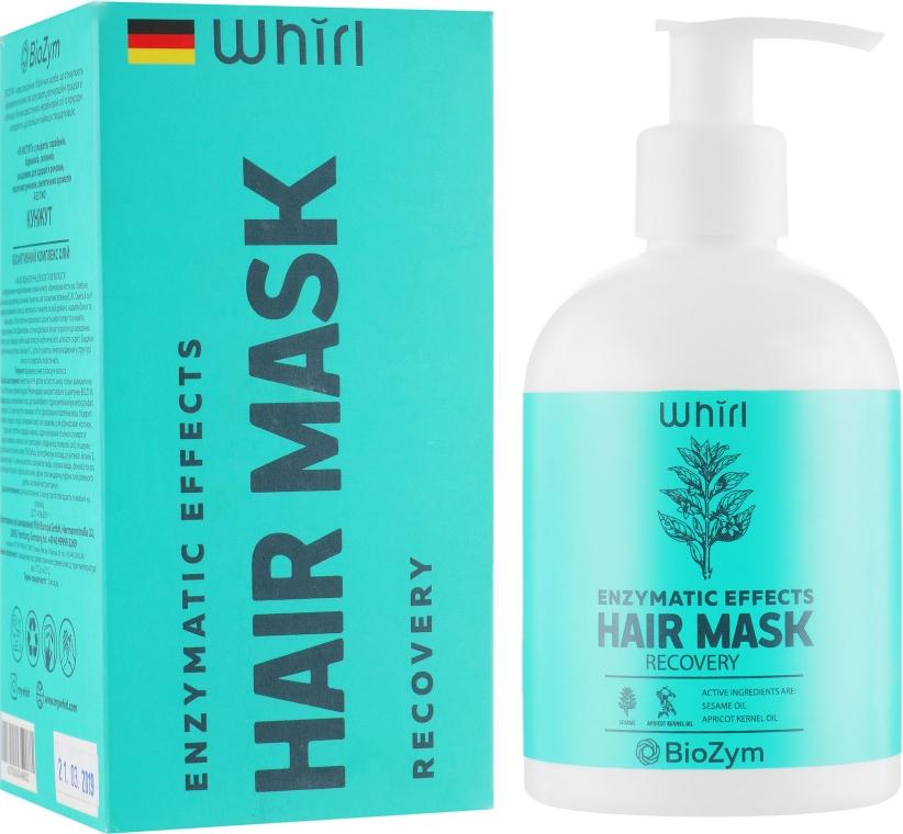 Восстанавливающая маска для волос с маслами кунжута и абрикосовых косточек - Whirl Enzymatic Effects Hair Mask Recovery