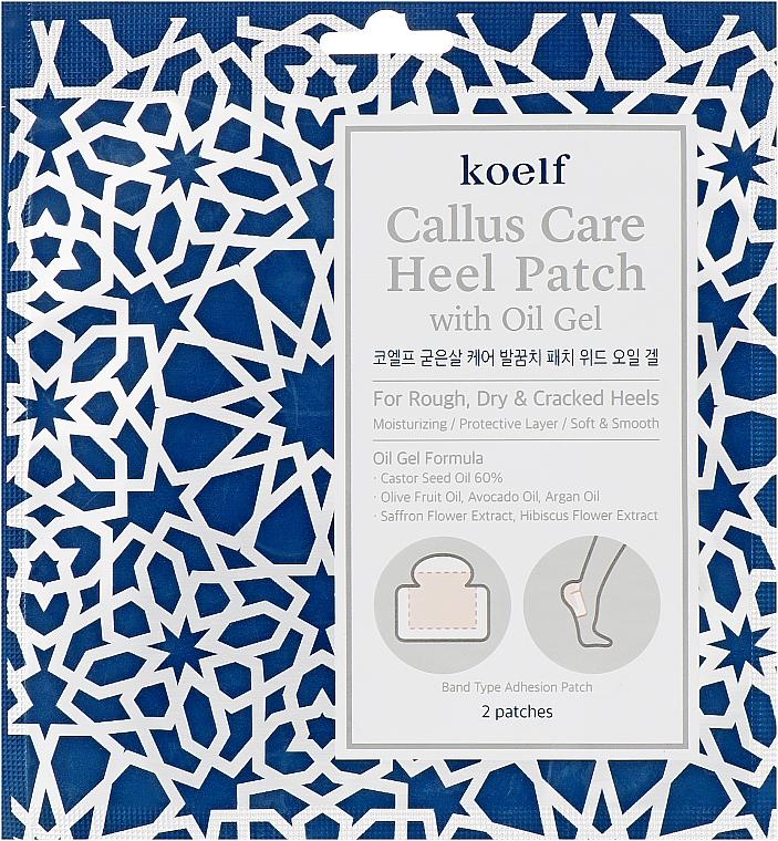 Патчи для пяток с гель-маслом - Koelf Callus Care Heel Patch with Oil Gel