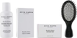 Духи, Парфюмерия, косметика Acca Kappa White Moss - Дорожный набор (edc/30ml + b/lot/100ml + soap/50g + brush + bag)