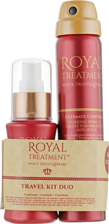 "Набор ""Королевский уход"" - CHI Royal Treatment Travel Kit Duo (fix/spray/74g + complex/59ml)"