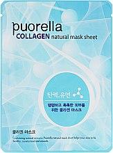 Духи, Парфюмерия, косметика Тканевая маска для лица с коллагеном - Puorella Collagen Natural Mask Sheet