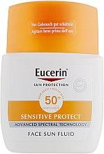 Солнцезащитный флюид для лица с фактором УФ защиты SPF 50 - Eucerin Sun Fluid Mattifying SPF 50 — фото N2