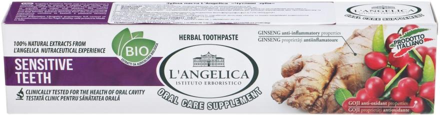"""Зубная паста """"Чувствительные зубы"""" - L'Angelica"""