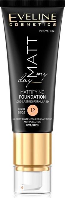 Тональный крем с матовым эффектом - Eveline Cosmetics Matt My Day Mattifying Foundation