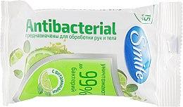 Духи, Парфюмерия, косметика Влажные салфетки с витаминами, 15шт - Smile Ukraine Antibacterial