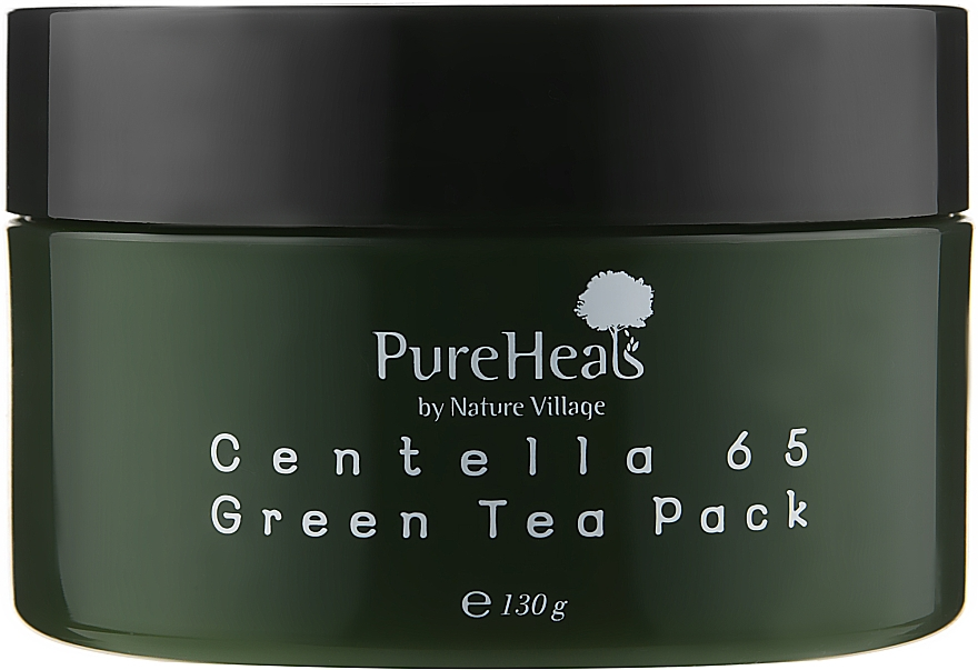 Восстанавливающая маска с экстрактом центеллы и зеленым чаем - PureHeal's Centella 65 Green Tea Pack
