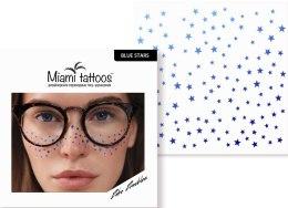 Духи, Парфюмерия, косметика Переводные тату-веснушки - Miami Tattoos Blue Stars