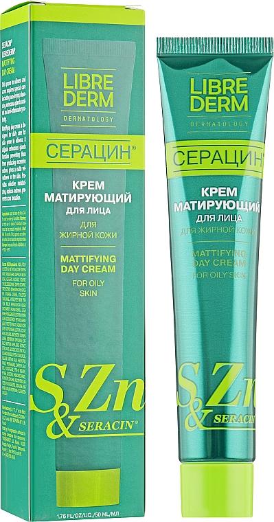 Матирующий крем для лица для жирной кожи Серацин - Librederm Mattifying Day Cream For Oily Skin