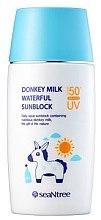 Духи, Парфюмерия, косметика Солнцезащитный крем с ослиным молоком - SeaNtree Donkey Milk Waterful Sun Cream SPF 50+ PA+++