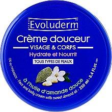 Духи, Парфюмерия, косметика Крем для тела и лица - Evoluderm Almond Face and Body Cream