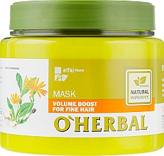 Духи, Парфюмерия, косметика Маска для объема тонких волос - O'Herbal