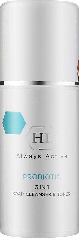 Мягкая очищающая тонизирующая эмульсия-демакияж - Holy Land Cosmetics Probiotic 3 in 1