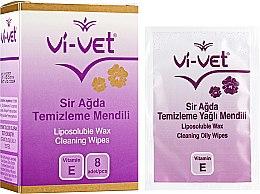 Духи, Парфюмерия, косметика Очищающие салфетки после депиляции - Vi-Vet Liposoluble Wax Cleaning Wipes