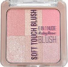 Духи, Парфюмерия, косметика Румяна - Ruby Rose Soft Touch 6 In 1 Blush