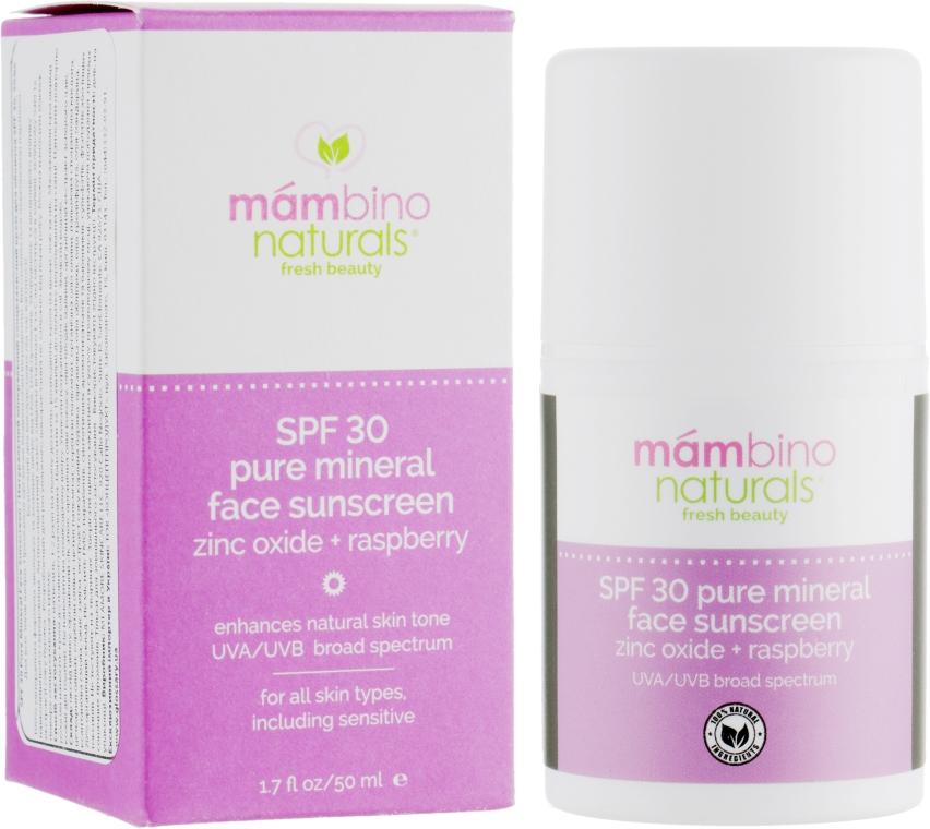 Натуральний мінеральний сонцезахисний крем для обличчя SPF 30 - Mambino Organics Face cream moisturizer balancing — фото N1
