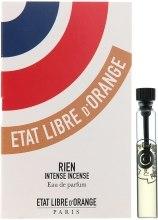 Духи, Парфюмерия, косметика Etat Libre d'Orange Rien Intense Incense - Парфюмированная вода (пробник)