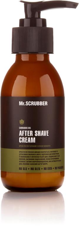 Крем после бритья с маслом конопли - Mr.Scrubber Man After Shave Cream
