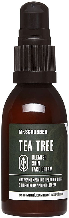 Крем для лица с гидролатом чайного дерева - Mr.Scrubber Tea Tree Blemish Skin Face Cream