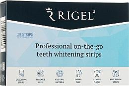 Духи, Парфюмерия, косметика Профессиональные полоски для отбеливания зубов - RIGEL Professional On-The-Go Teeth Whitening Strips
