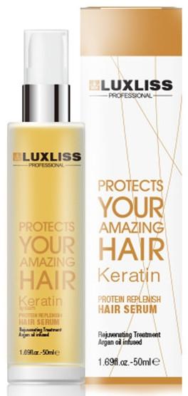 Кератиновое масло - Luxliss Keratin Protein Replenish Hair Serum