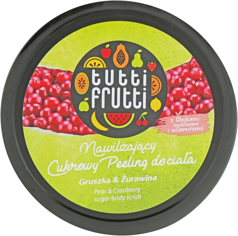 "Гель-пилинг для тела ""Груша и Клюква"" - Farmona Tutti Frutti Body Scrub Pear & Cranberry"