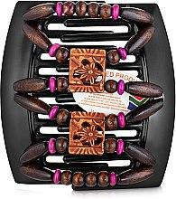 Духи, Парфюмерия, косметика Заколка для волос Dupla 009, на черном гребне для густых волос - African Butterfly Hair Clip