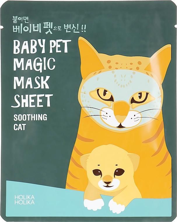 """Тканевая маска """"Кошка"""" - Holika Holika Baby Pet Magic Mask Sheet Soothing Cat"""