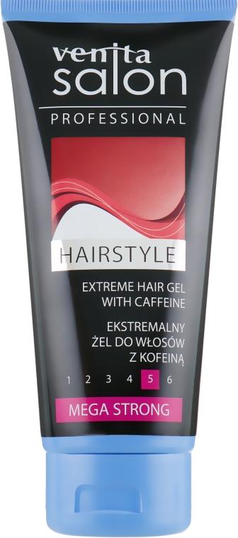 Гель стилизирующий для волос - Venita Salon Professional Mega Strong Extreme Hair Gel Caffeine