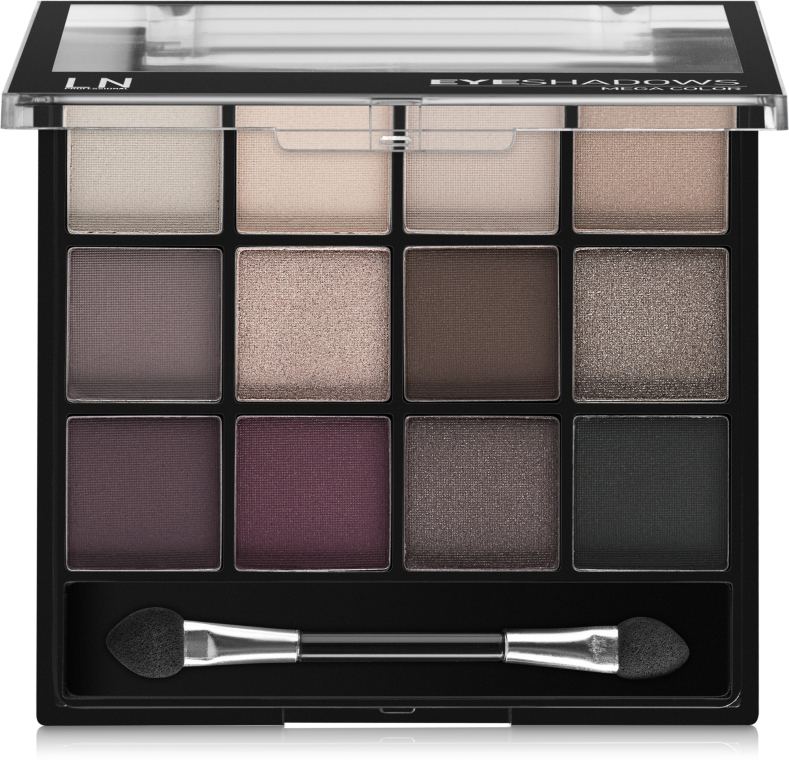 Палетка теней для глаз - LN Professional Mega Color Eyeshadows Kit