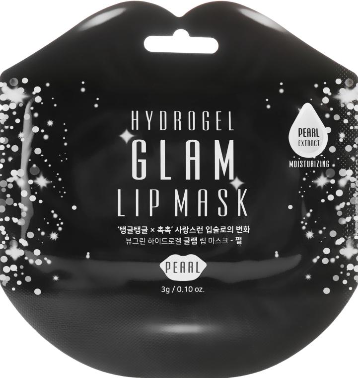 Гидрогелевые патчи для губ с экстрактом жемчуга - BeauuGreen Hydrogel Glam Lip Mask Black Pearl
