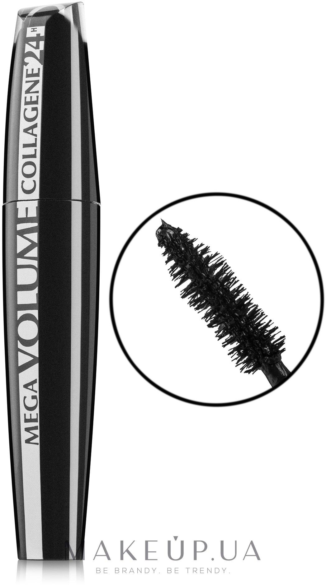 Тушь для ресниц - L'Oreal Paris Mega Volume Collagene 24 — фото Extra Black