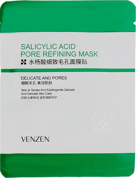 Тканевая маска для проблемной кожи с салициловой кислотой - Venzen Salicylic Acid Pore Refining Mask