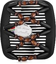 Духи, Парфюмерия, косметика Заколка для волос Beada 007, на черных гребнях - African Butterfly Hair Clip