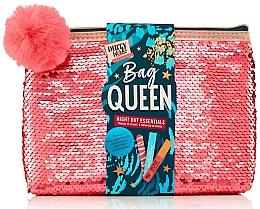 Духи, Парфюмерия, косметика Набор - Dirty Works Queen Night Out Essentials (lip/stick/2.8ml + b/spray/10ml + nail/file/1pcs + bag)