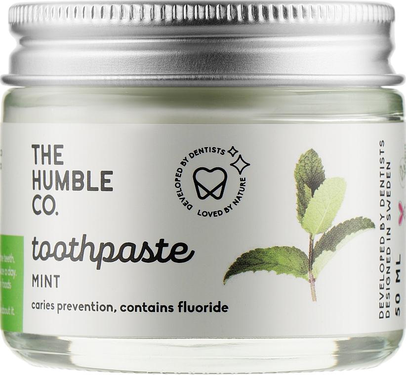 Натуральная зубная паста реминерализующая в стеклянной банке «Освежающая мята» - The Humble Co. Mint Toothpaste