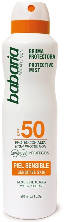 Солнцезащитный спрей для тела - Babaria Protective Mist For Sensitive Skin Spf50