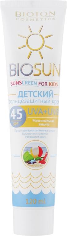 Детский солнцезащитный крем SPF 45 - Bioton Cosmetics BioSun