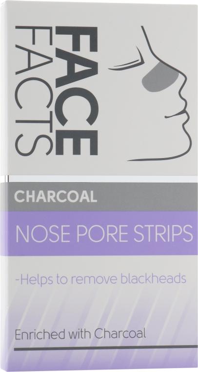 Очищающие полоски для носа - Face Facts Charcoal Nose Pore Strips