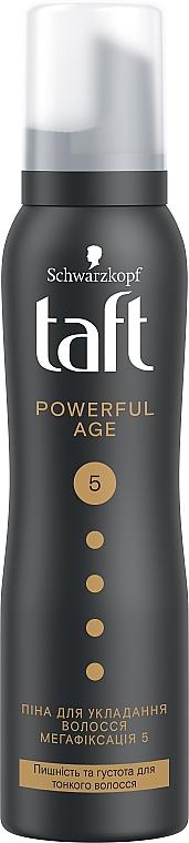 """Пена-мусс для волос """"Power. Сила кератина"""", мегафиксация 5 - Taft Keratin Power 5"""