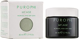 Духи, Парфюмерия, косметика Антивозрастной крем для нормальной и сухой кожи - Purophi My Age Normal and Dry Skin