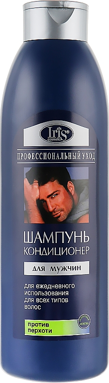"Шампунь-кондиционер для мужчин ""Очищающий. Против перхоти"" - Iris Cosmetic"