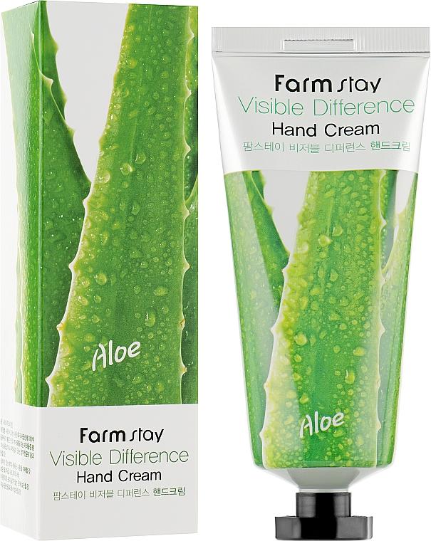 Крем для рук алоэ - Farmstay Visible Differerce Hand Cream Aloe