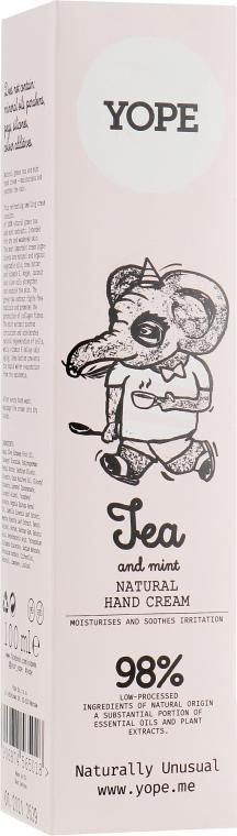 """Крем для рук """"Чай и мята"""" - Yope Tea & Mint Hand Cream"""