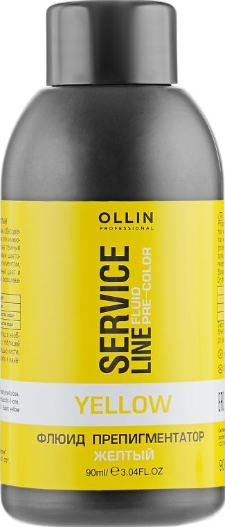 Флюид-препигментатор для волос - Ollin Professional Service Line Yellow Fluid-Pre-Color
