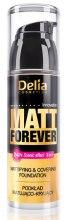 Духи, Парфюмерия, косметика Матирующий тональный крем с кроющим эффектом - Delia Cosmetics Matt Forever