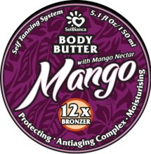 "Духи, Парфюмерия, косметика Твердое масло-автозагар для тела ""Манго"" - SolBianca Mango Body Butter"