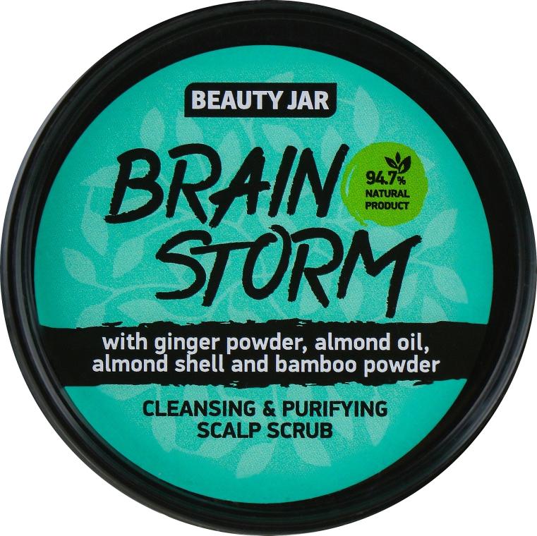 "Скраб очищающий для кожи головы ""Brain Storm"" - Beauty Jar Cleansing & Purifying Scalp Scrub"