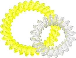 Духи, Парфюмерия, косметика Резинки для волос, 414562, прозрачно-желтая + прозрачно-сиреневая - Glamour
